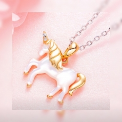 Einhorn Kette -LOVELY GOLDEN UNICORN-